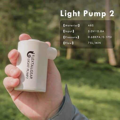 luchtbed pomp Light pump 2 Flextail Gear
