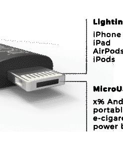 inCharge dual aansluiting voor Lightning en Micro-USB
