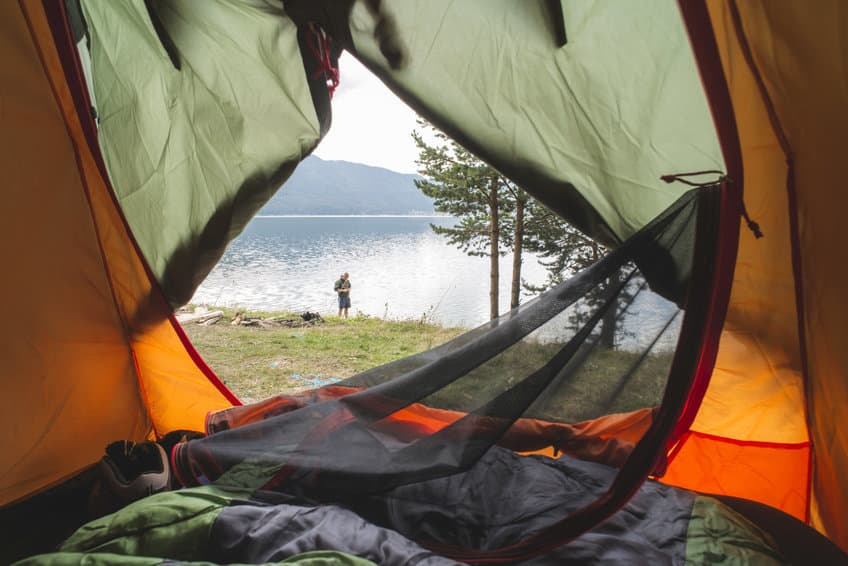 kamperen tent slaapzak reizen