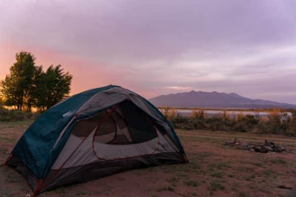 kamperen tent reizen