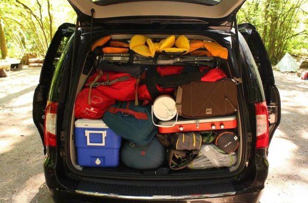 kampeer spullen in auto gadgets